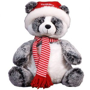 personalized christmas panda bear gift