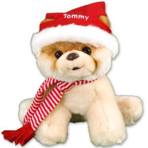 personalized christmas boo plush dog gifts for kids