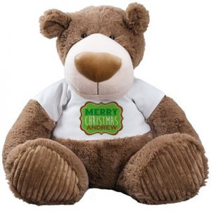 personalized brown teddy bear gift for kids
