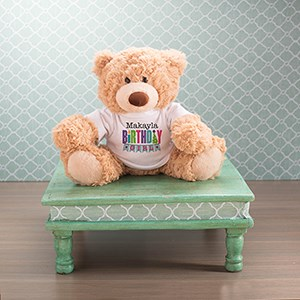 personalized birthday teddy bear gift