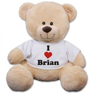 personalized valentine's day teddy bear