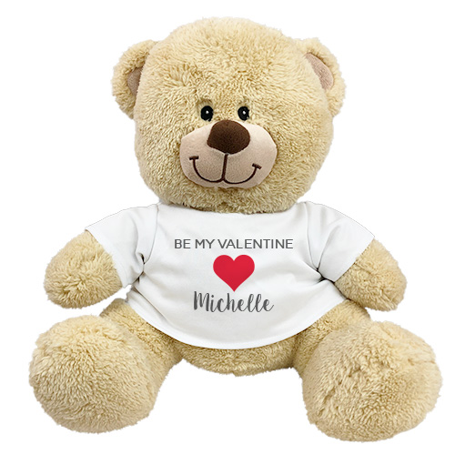 Personalized Be My Valentine Sherman Bear 8314098X