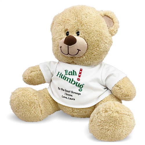 Personalized Bah Humbug Teddy Bear 837215x