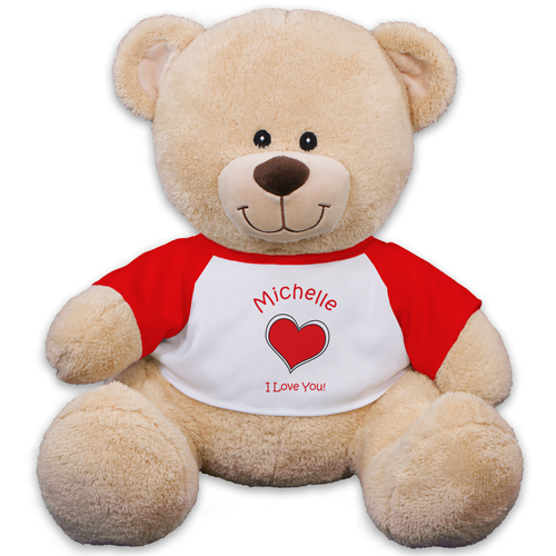 Personalized Heart Teddy Bear 83xxxb13-4987