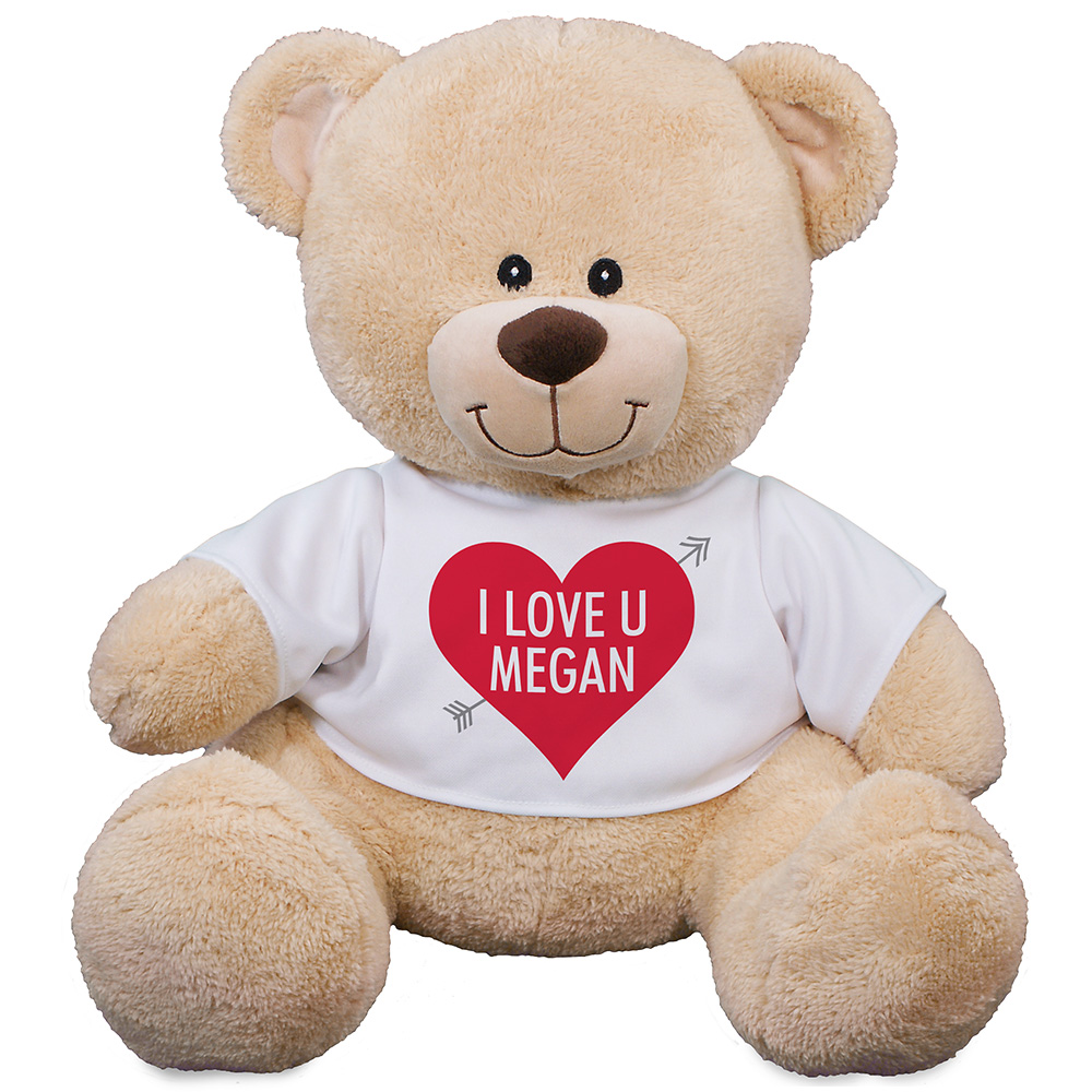 Personalized I Love U Sherman Bear 83140999X