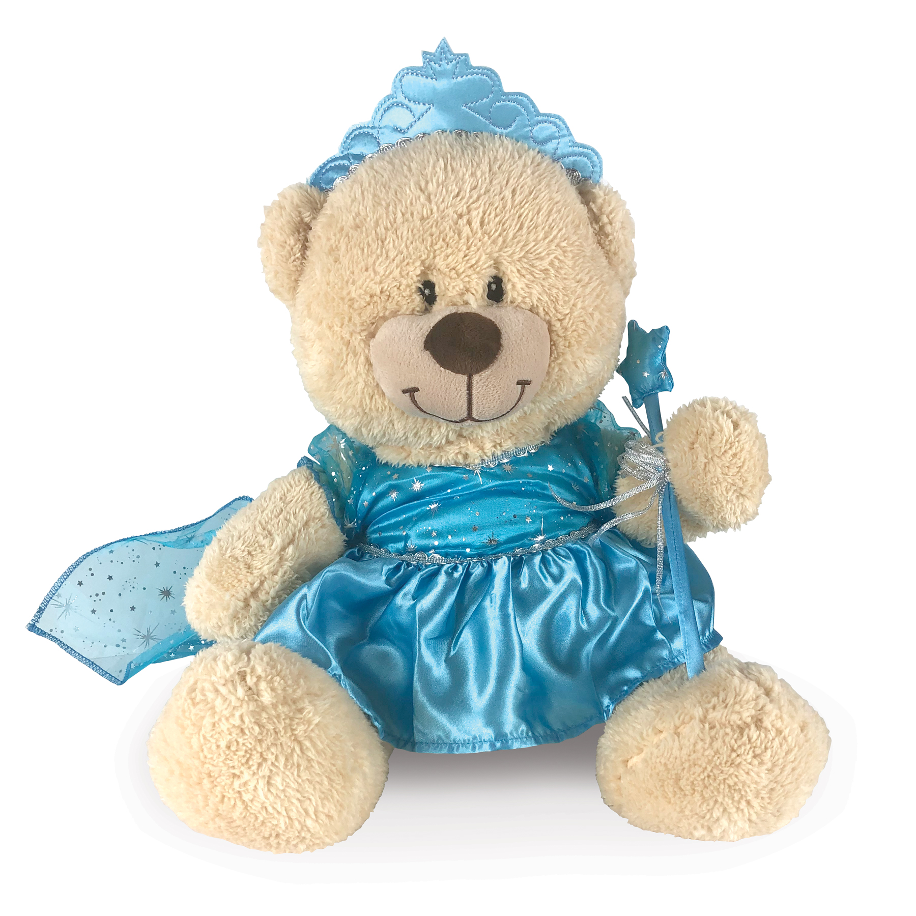 Blue Princess Dress for Stuffed Animal | Snow Princess Dress Bear Accessory