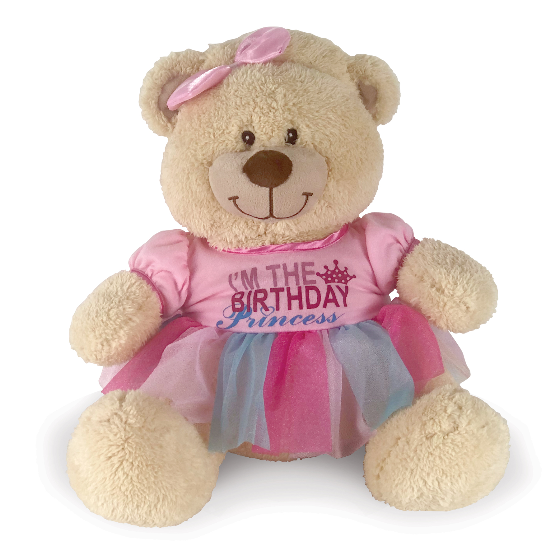 Birthday Princess Dress for Teddy Bear | Pink Birthday Tutu for Stuffed Animal
