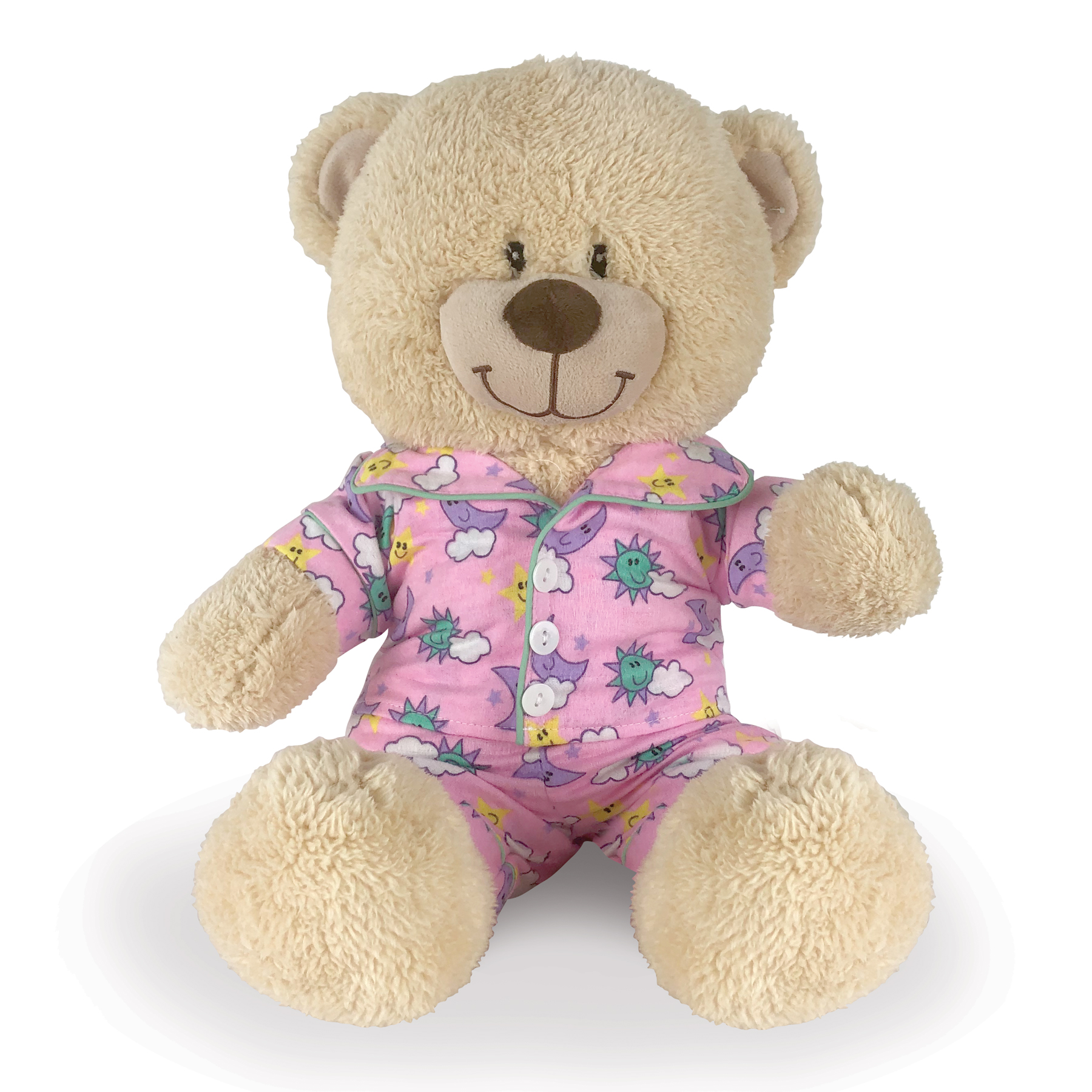Teddy Bear Outfits | Pink Flannel PJ's For Teddy Bear