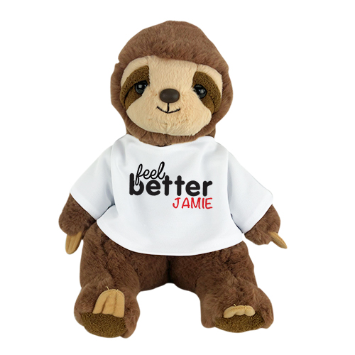 Sleepy Sloth Stuffed Animal | Personalized Feel Better Sloth