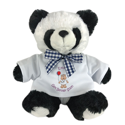 Personalized Get Better Teddy Bear | Get Well Soon Panda Bear