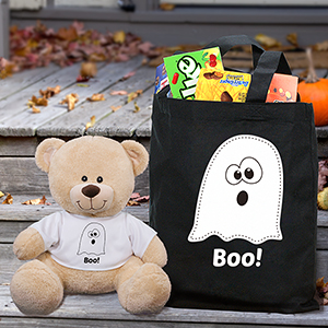 Halloween Boo Sherman Bear and Tote Set - 11