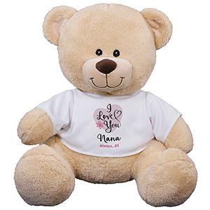 I Love You Mom Sherman Teddy Bear | Personalized Teddy Bear