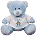 Personalized New Baby Blue Teddy Bear 890006-4570