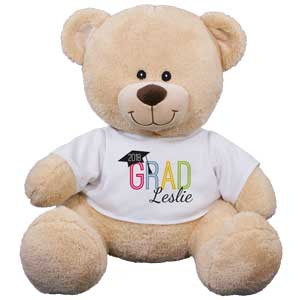 Personalized GRAD Sherman Bear | Personalized Graduation Bear