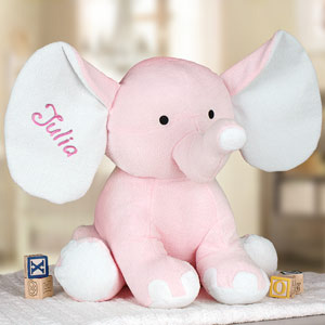 Embroidered Pink Polka Dot Elephant 8BE458352PK