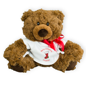 Personalized Merry Christmas Coco Bear | Personalized Christmas Teddy Bears