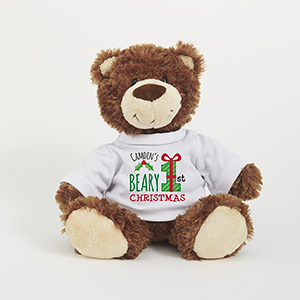 Personalized Beary First Christmas Smiles Bear