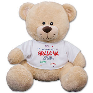 Personalized We Love Grandma Teddy Bear