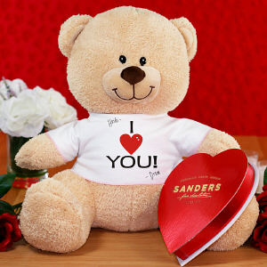 I Heart You Teddy Bear with Chocolate - 11
