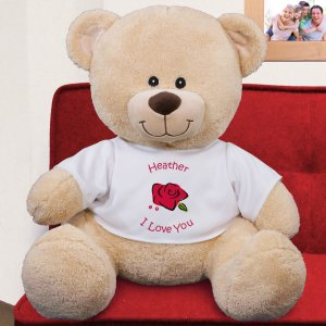 Personalized Rose Teddy Bear - 21