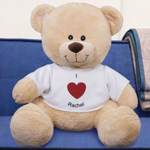 Personalized I Heart You Teddy Bear - 21