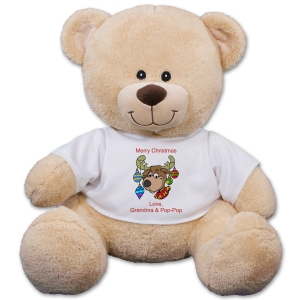 Personalized Christmas Reindeer Teddy Bear 834955X