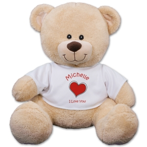 Personalized Romantic Heart Teddy Bear