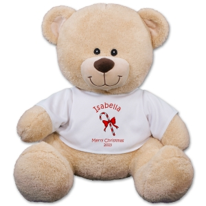 Personalized Christmas Candy Cane Teddy Bear 834989X