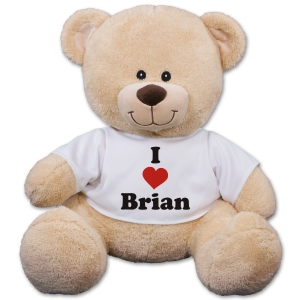 Personalized I Love You Teddy Bear | Personalized Valentineu0027s Day Bears