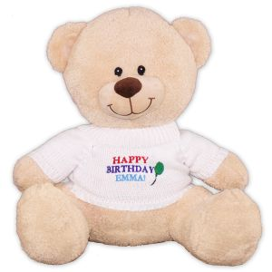 Embroidered Happy Birthday Teddy Bear - 17