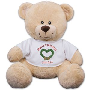 Christmas Wreath Teddy Bear 83000B13-4991