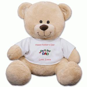 Personalized Worlds Best Dad Teddy Bear 83000B17-5069