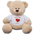 Personalized Heart Plush Bear - 11