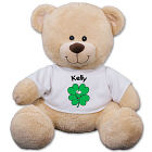 Personalized Smiling Shamrock Teddy Bear 83000B21-5342