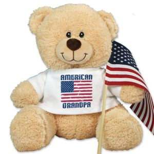 American Flag Sherman Teddy Bear