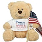 Home of the Free Sherman Teddy Bear