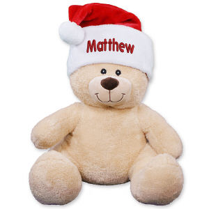 Embroidered Santa Hat Teddy Bear 83xxxb21-E0009