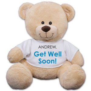 Personalized Get Well Teddy Bear