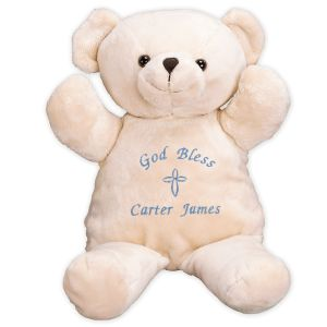 Embroidered God Bless Teddy Bear 8BE3155102