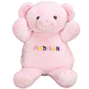 Embroidered Name Pink Bear 8BE3530101