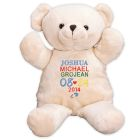 Embroidered New Baby Boy Teddy Bear - 17