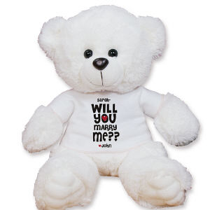 Personalized Will You Marry Me Teddy Bear AU07634-5331
