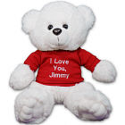 Personalized Any Message Romantic Teddy Bear - 14