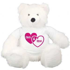 Couples Hearts Teddy Bear - 45