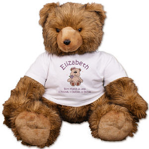 Personalized New Baby Brown Bear - 39