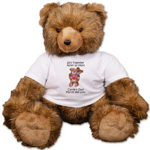 Personalized Hugging Couple Anniversary Teddy Bear AU1407-4741