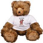 Personalized Hugging Couple Anniversary Teddy Bear - 39