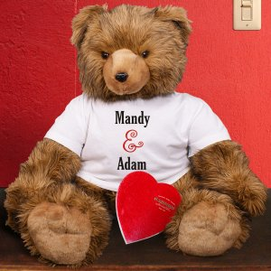 Couples Teddy Bear with Chocolate - 39