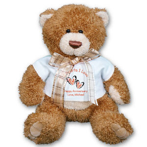 Personalized Two Hearts Anniversary Teddy Bear - 20