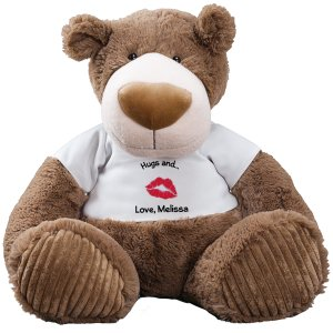 Big Kiss Mocha Teddy Bear - 30